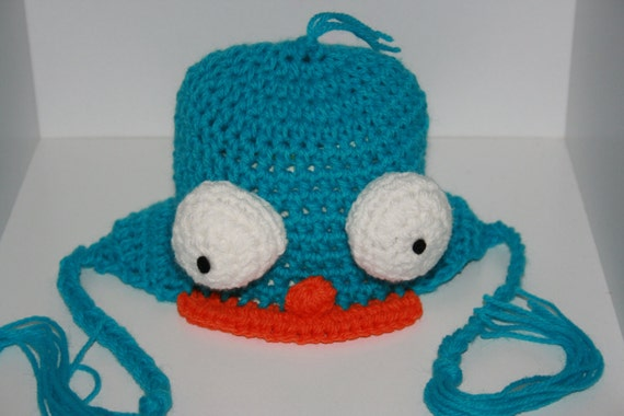Perry Häkeln Platypus Inspiriert Ohrklappe Hut Das