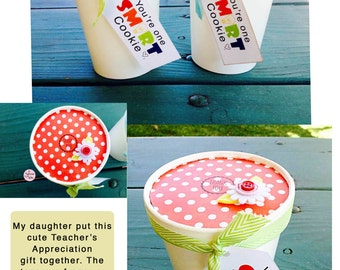Smart Cookie Gift Tag / Teacher Appreciation Gift Idea / Cookies for Kids and Teachers