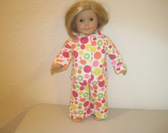 """18"""" doll clothes pajamas to fit American Girl Dolls"""