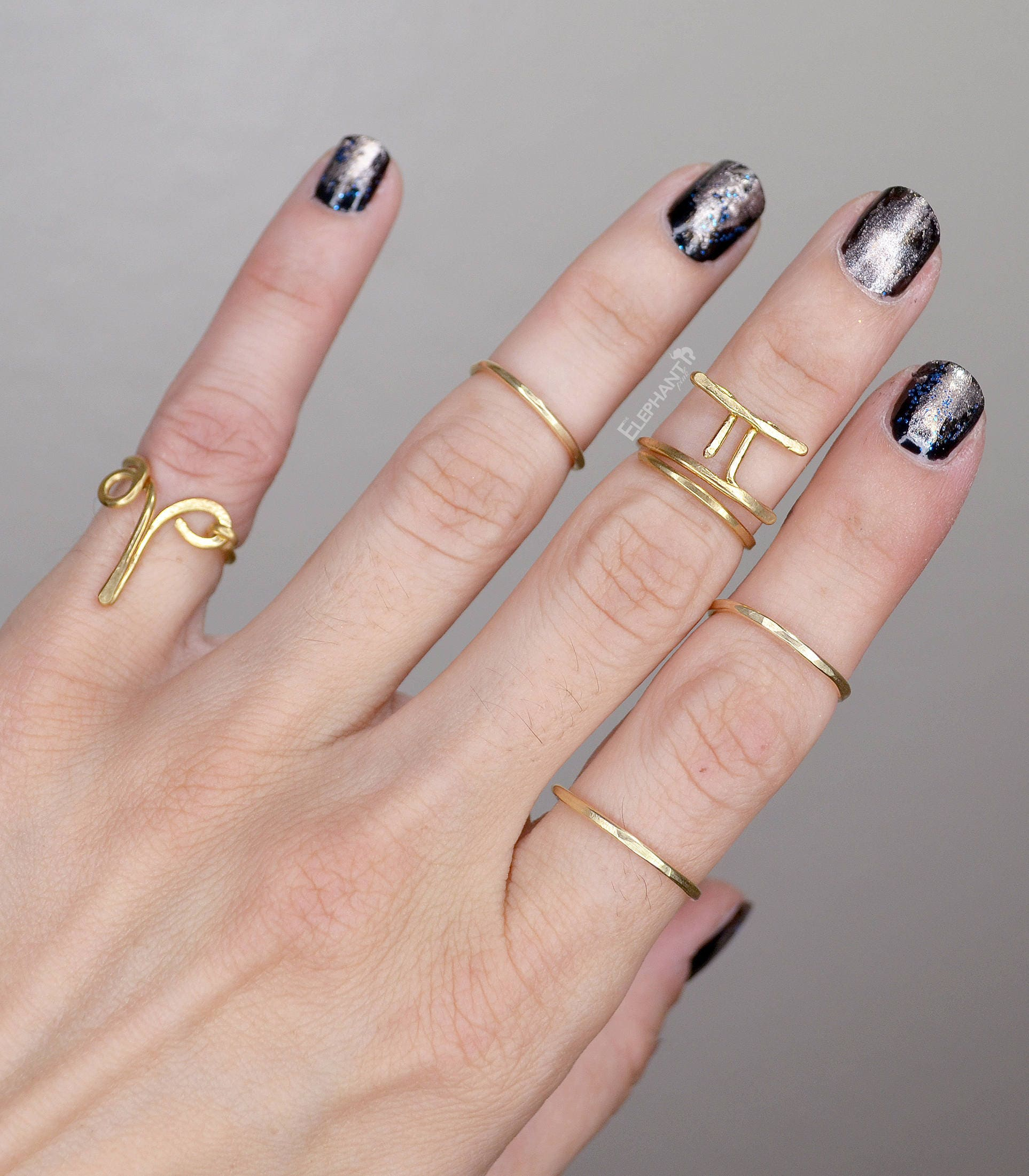 Horoscope Rings Set Zodiac Sign Ring Astrological Jewelry