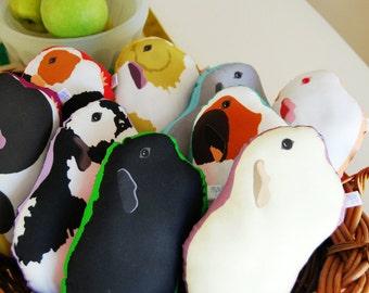 Choose Your Guinea Pig Plushie / Guinea Pig Pillow / Plush / Soft Sculpture / Original Illustration