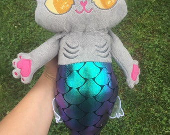 Purrmaid Kitty Mermaid Plush - Chartreux
