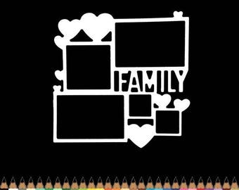 Cut scrapbooking scrap picture family heart cutout paper die cut creation