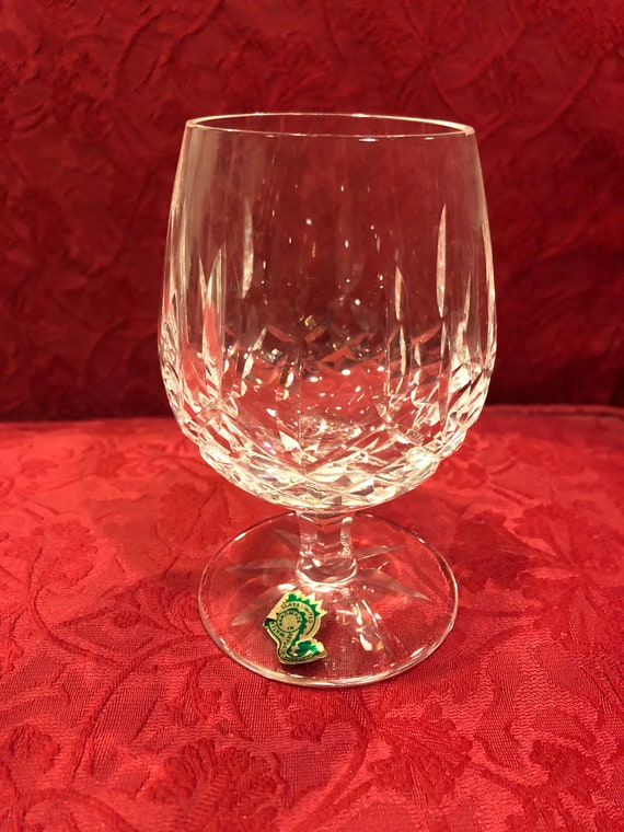 FREE SHIPPING-Two-Waterford-Brandy Sniffer4.5 Inch-Balloon-Lismore