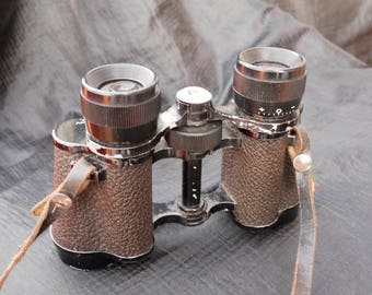 Old Scottish Made Brass Era Binoculars, Lizars Edinburgh