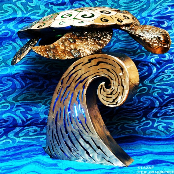Kaimana the Sea Turtle, Illuminated Sculpture,2016