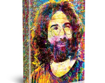 Jerry Garcia Art, The Grateful Dead Painting, Dead Original Canvas Art Print