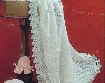 Instant PDF Download  baby shawl bootees mittens knitting pattern   (547)