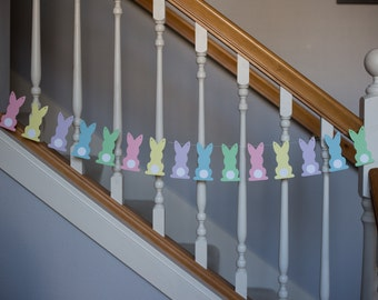 Bunny garland, Easter bunny garland, Easter banner, Easter bunny garland