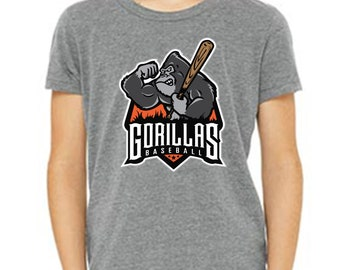 Bella + Canvas Youth Jersey Tee - Gorilla Baseball