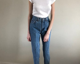 vintage gap jeans / 80s jeans / tapered leg jeans / high waisted jeans | 24W size 0 2 xxs