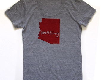 arizona tshirt, women's shirt, nyc tshirt, new york shirt, graphic t, witty tshirt, free ship
