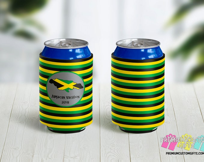 Destination Can Coolers - Personalized Can Coolers - Bachelorette Can Cooler - Custom Coolies -  Custom Party Favors - Vacation Can Coolers