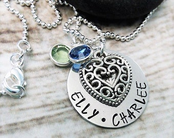 Personalized Mother Necklace,Wife Jewelry,Birthstone Necklace,Mom Jewelry,Mother Jewelry,Mother Necklace,Personalized Jewelry,Name Necklace