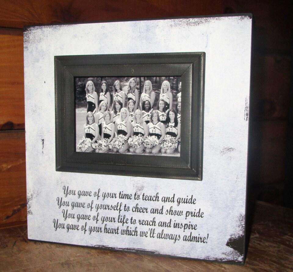 Cheerleader Coach Sign Picture Frame Dance Teacher gift Swim Coach ...