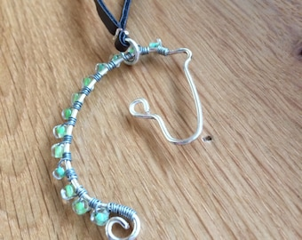 Wire and Bead Horse Necklace