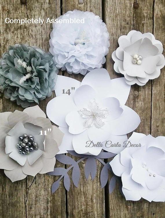 Hochzeit Blume Hintergrund weiß grau neutrale Farben große