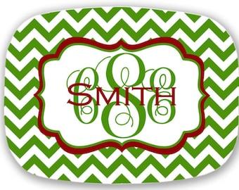 personalized melamine platter - Christmas