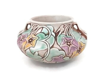 Roseville Morning Glory Pottery Arts and Crafts Era Pottery 268-4