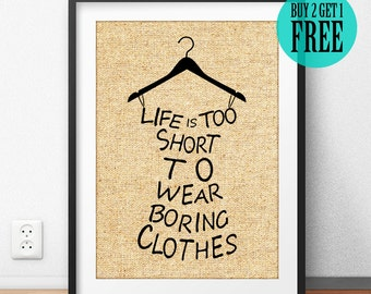 Laundry Room Art Decor Burlap Print, Birthday Gift Her, Anniversary Gift, Rustic Home Decor, Motivational Quote, Typography Poster -SD21
