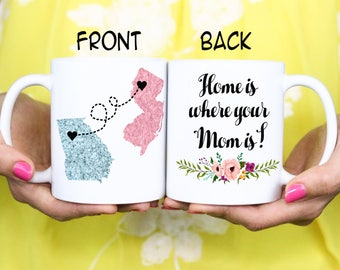 Mother Gift - Gift to Mom - MOM GIFT Home is where your Mom is - Personalized Gift - Personalized Christmas Mug - Christmas Gift- Mug Gift