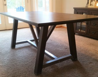 Farmhouse Table Frame - Farmhouse Table Base - Table Legs - Table Base - Metal Table Legs - Steel Legs - A Frame Table Legs - A Frame Legs