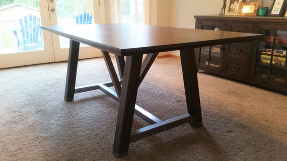 Merveilleux Farmhouse Table Frame Farmhouse Table Base Table Legs