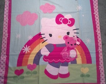 Hello kitty baby receiving blanket