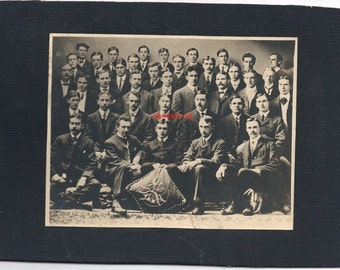 University Vermont medical fraternity doctor Victorian antique photo