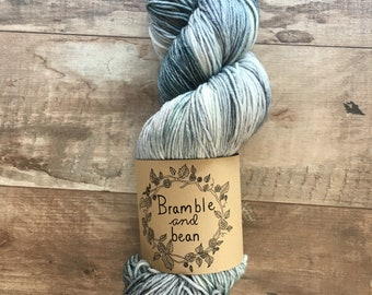 Hand Dyed Worsted Weight Yarn, Superwash Merino Wool - Moonbeam (Ready to ship)