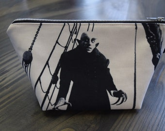 nosferatu - lined canvas zippered pouch - universal monsters - max schrek