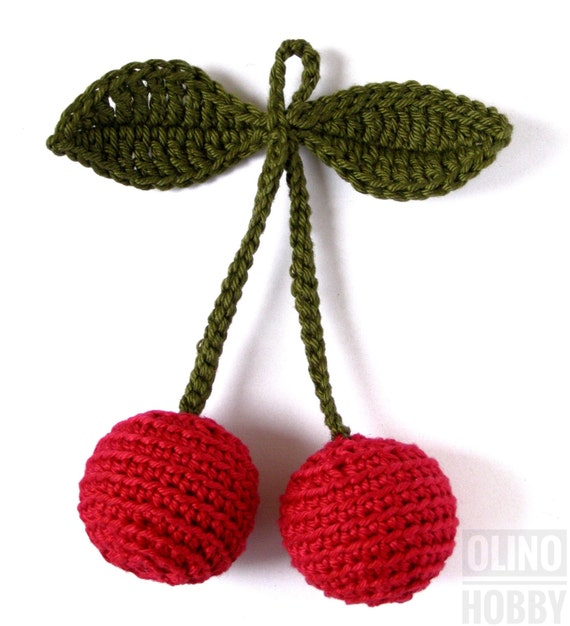Cherry Crochet Pattern Pdf Crochet Fruit Pattern Crochet