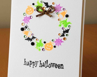 Halloween Wreath Card