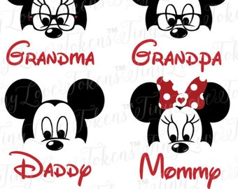 Iron On Disney Face Family Decals