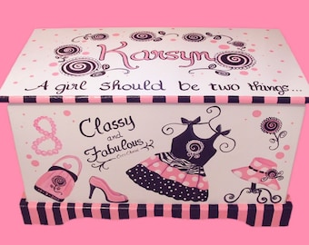 Glamour Girl Toy Chest Custom Designed