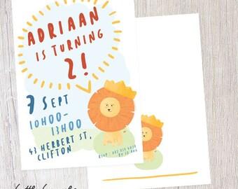 Little Lion Birthday Invitation