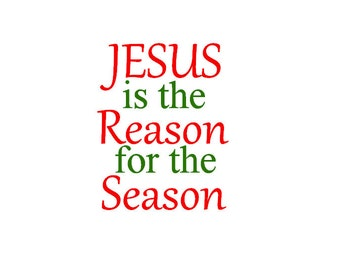 jesus is the reason vinyl merry christmas vinyl holiday wall decor christian christmas