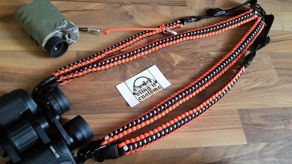 how to make a binocular harness with paracord