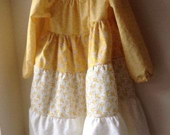 Custom-made girls tiered twirl dress