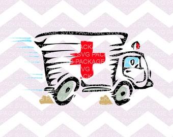 SVG Clipart, Ambulance Svg, Paramedic Clipart SVG, EMT svg clipart, ambulance Clipart, Svg Cutting File, vinyl Svg Design, Cutting Machine