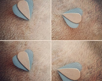 Leather brooch