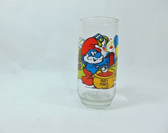 1980s, Smurf, Papa Smurf, Smurf Glass, Smurf Gift, Smurf Glasses, 80s Collectables, 80s Retro, 80s Glasses, Pop Culture, Pop Culture Gifts