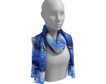 Blue Pashmina Scarf, Blue Boho Scarf, Scarf Blue Bohemian, Blue Scarf For Her, Spring Blue Scarf, Scarf Boho Summer, Summer Blue Scarf Women