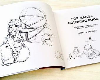 SIGNED-Pop Manga Coloring Book