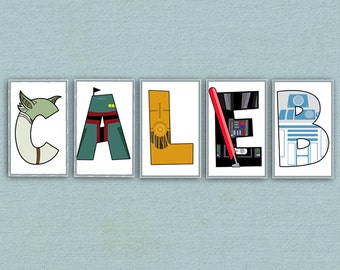 Individual Star Wars Letters -Digital File