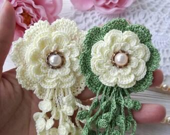 Crochet flowers (2pcs)
