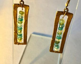 Caged Gemstone Earrings