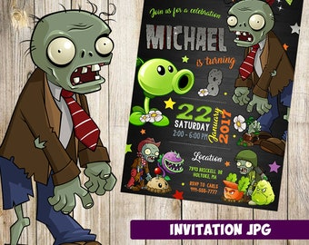 Zombies invitation Etsy