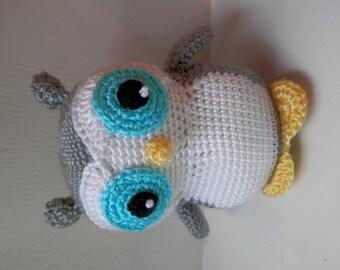 Crochet Owl Toy, Handmade Crochet Stuffed Toy Owl, Owl Stuffed Animal, Owl Arigurumi, Owl Plushi, Crochet Owl, Toy Owl, Boy or Girl Owl Toy