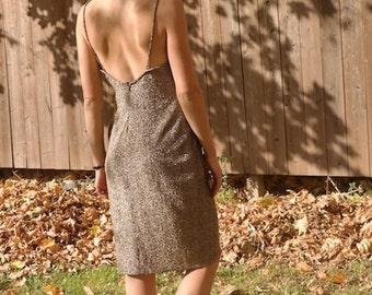 70's, 80's Metallic Gold Dress, XS, S